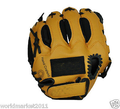 Sporting Goods PVC Material 10 Inches Wear-Resisting Baseball Glove Brown &$