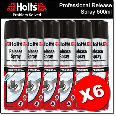 6 x Holts Professional Rustola Release Spray Multipurpose Penetrating Lubricant