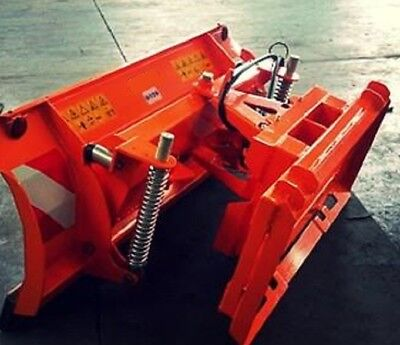 "NEW 84"" 7' SNOW PLOW SKID STEER LOADER,Quick Attach- bobcat Tractors John deere"
