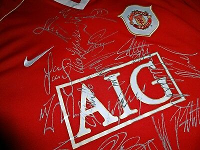 Hand Signed Manchester United Shirt 2006/07 Fa Premier League Winners Squad