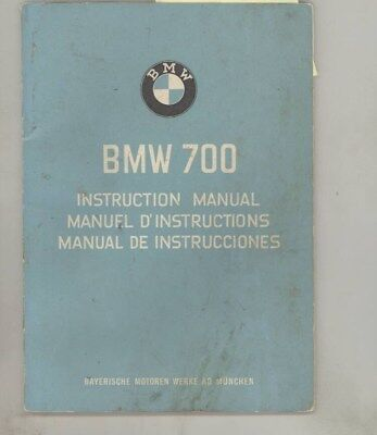 1960 BMW 700 Instruction Owner's Manual Brochure English Spanish French wy8258