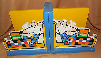 LUCY COUSINS Mimi Mausi MAISY MOUSE In Bed Paris France BOOKENDS Book Ends 1996