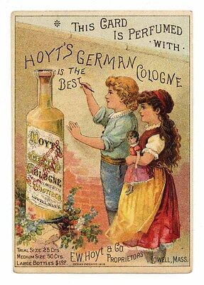HOYT'S GERMAN COLOGNE, Victorian Trade Card, 285, Lowell, Massachusetts