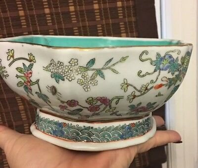 Vintage Chinese Footed Bowl