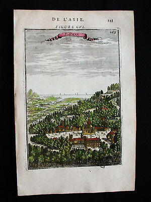 1683 MALLET -rare VIEW of ANTIOCH City, ANTAKYA, TURKEY, ASIA MINOR, MIDDLE EAST