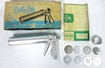 Vintage Cookie Chef Trig-O-Matic Pastry Gun Decorator Tool with Original Box