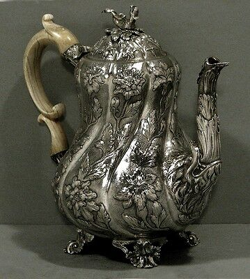 English Sterling Coffee Pot    EDWARD FARRELL 1820        WAS $5400  NO RESERVE