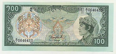 Bhutan 100 Ngultrum ND (1986) Pick 18.a UNC Uncirculated Banknote