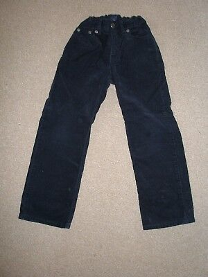 Excellent Boys GAP Smart Soft Black Cord Regular Fit Trousers Jeans, Age 7 Yrs