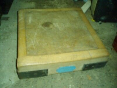 "Vintage Wooden Butchers Chopping Block To Restore 18"" Square Charles Dix Norwich"