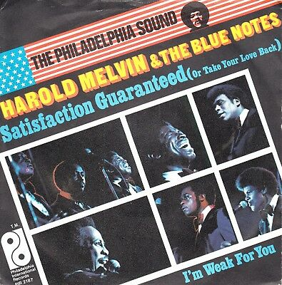 """7""""-   Harold Melvin & The Blue Notes = Satisfaction Guaranteed (Or Take Your...)"""