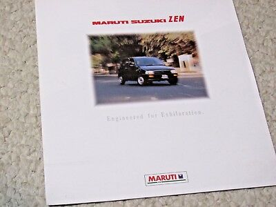 1980's MARUTI ZEN (INDIA) SALES BROCHURE....