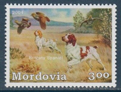 Brittany English Spaniel Dogs MNH stamp BREN08