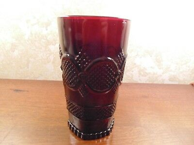 Avon Cape Cod Ruby Red 12 Oz Flat Tumbler