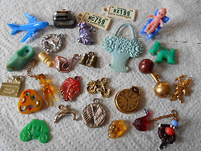 28 Gumball/cracker Jack Charms, Prizes, Glass Toys Etc.  #173