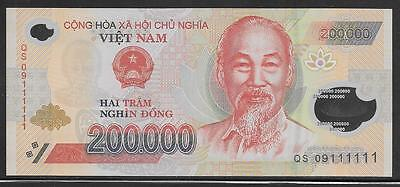 Vietnam 200,000 Dong 2009 Solid 1's Polymer UNC
