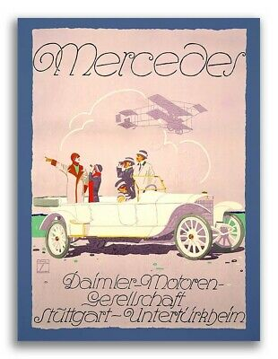 Mercedes 1914 Vintage Style Classic Auto Advertising Poster - 20x28