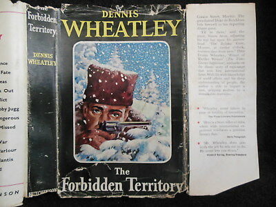 """Original Dust Jacket ONLY for Dennis Wheatley """"The Forbidden Territory"""" c1946"""