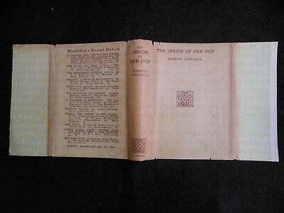 """Original Dust Jacket ONLY for Winston Churchill """"The Inside of the Cup"""" c1913"""