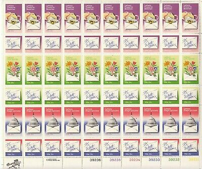 Stamp US Sc 1805-10 Sheet 1980 Letter Writing Mailing Congress Love MNH