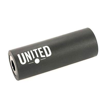 United BMX Stealth Plastic Peg 110mm Black 10/14mm