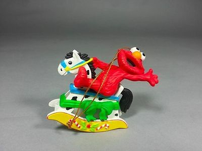 "Grolier Ornament Sesame Street  ""ELMO ON ROCKING HORSE"""