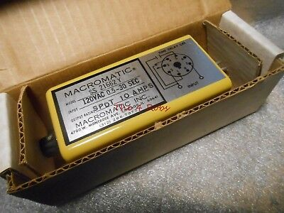 Macromatic Solid State Time Relay SS 21662 Y New in Box