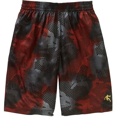 NEW Boys AND1 Flame Scarlet Alley Oop Athletic Basketball Shorts Small 6-7