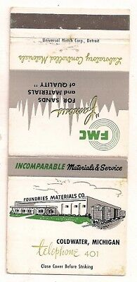 Foundries Materials Co., Coldwater MI Branch County Matchcover 110717