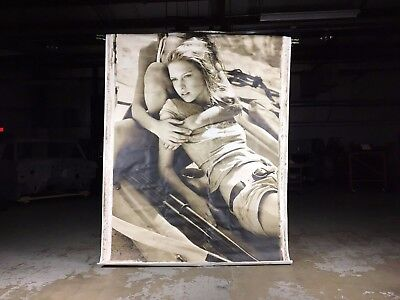 Hollister Canvas Wall Poster 6x8 ft Great Condition Genuine Wall Art from Store