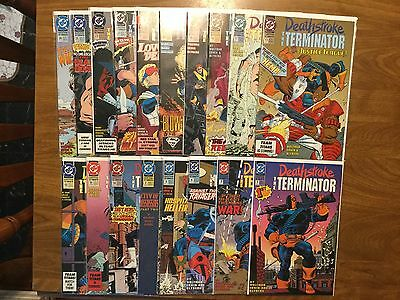 Deathstroke the Terminator 1-26 Not Complete Teen Titans Batman Movie Ravager