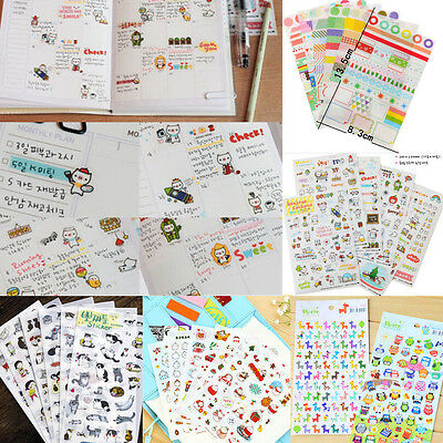 Hot!! DIY Calendar Scrapbook Album Diary Book Decor Paper Planner Sticker Craft