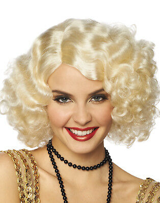 The Great Gatsby Broadway Flapper Blonde Short Adult Womens Costume Wig