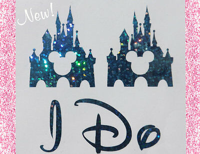 Disney Inspired Wedding I Do Shoe Stickers With Castle Great Bridal Photo Op