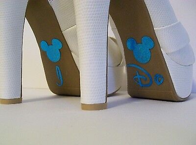 Disney Inspired Wedding I Do Shoe Stickers Sky Blue Mickey Great Bridal Photo Op