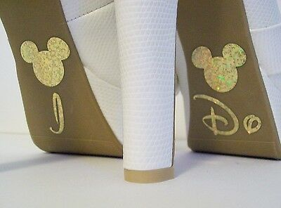 Disney Inspired Wedding I Do Shoe Stickers Gold Mickey Great Bridal Photo Op