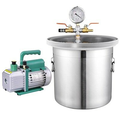 3 Gallon Vacuum Chamber & 3 CFM Single Stage Pump Kit for Degassing Silicones