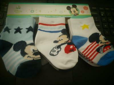 New Boys Infant Toddler Disney 6 Pair Socks Tennage Turtles Mickey 12-18M 18-24M