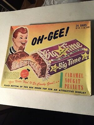 Hollywood's Hollywood Big Time Candy Bar Old Vintage Empty Box Centralia IL