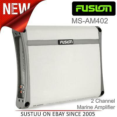 Fusion AM402 500W 2 OHM│Stainless Channel Class AB Amplifier│RCA Line│For Marine