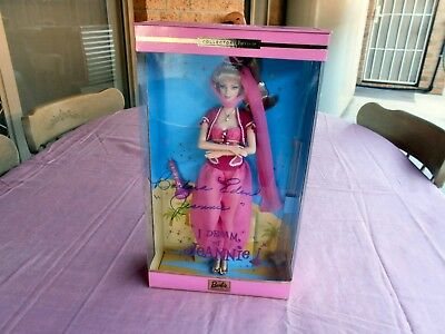 I Dream Of Jeannie Barbie Doll Signed By Barbara Eden Mib Look