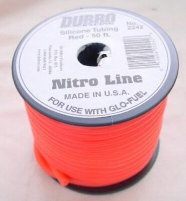 50 Foot Spool of Red Silicone Fuel Line