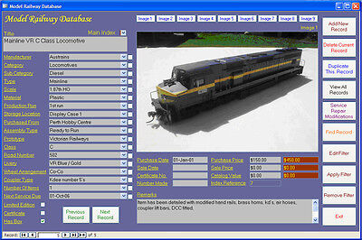 Model Railway Collection Image Database Software CDROM Windows 7/8/10 XP Vista