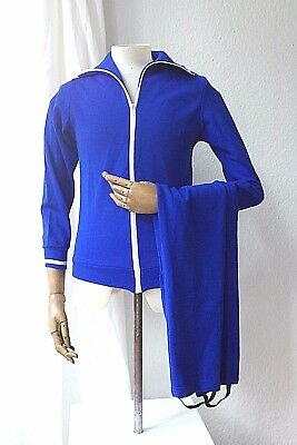 CHAMPION Trainingsanzug DDR Sportanzug 70er blau TRUE VINTAGE 70s GDR g82  m44