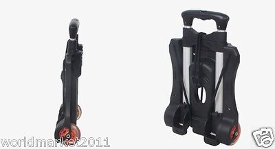 New Convenient Simple Black Two Wheels Collapsible Shopping Luggage Trolleys