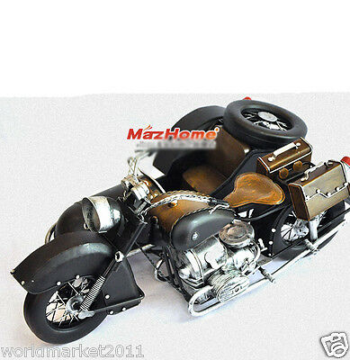 Retro L41.5*W27*H19CM Iron Motorcyle Model/Furnishing Articles &