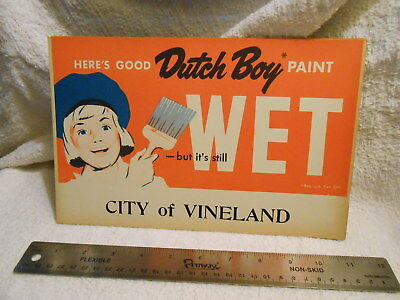 "Vintage 10 1/2"" x 7"" Dutch Boy Paint Cardboard Sign"