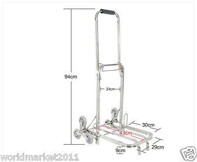 Stainless Steel Six-Tire Convenient Collapsible Shopping Luggage Trolleys