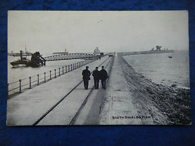 South Shields Pier - Scarce Early Real Photo Postcard!