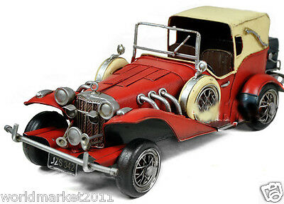* European Retro Style Red Metal Sports Car Model Artware Bar Decoration/Crafts